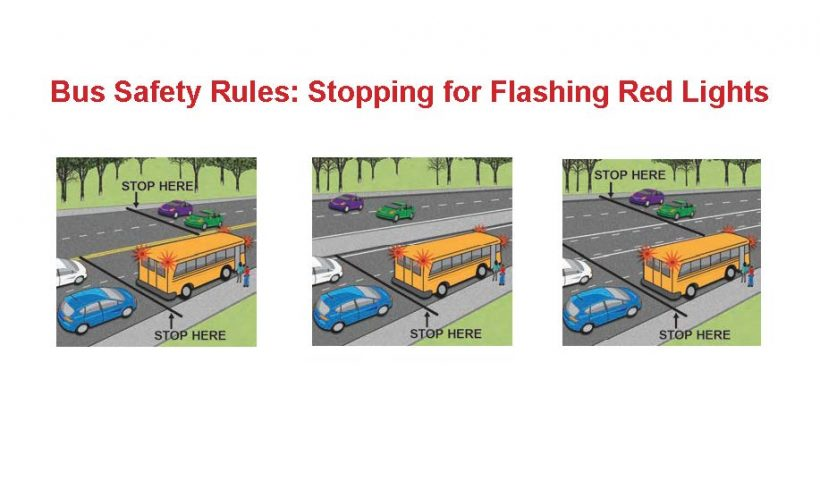 Bus Safety Rules: Stopping for Flashing Red Lights