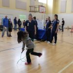 Child using a jump rope