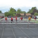 Children Running Hurdles