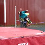 Child doing the high jump