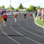Children running track