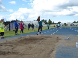 Long Jump at Middle School Track Meet