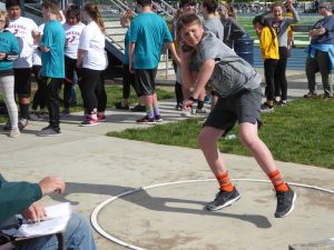 Shotput at Middle School Track Meet