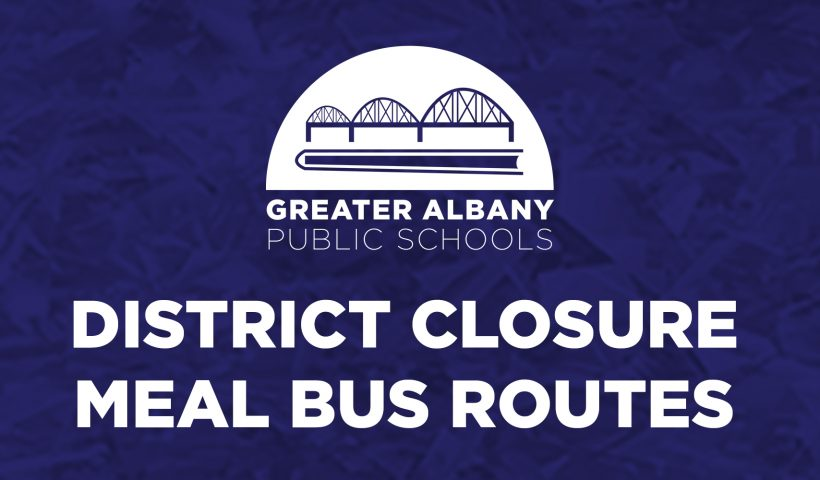 District closure meal bus routes text